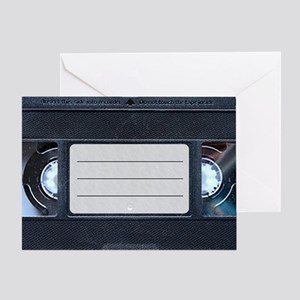 Retro VHS Tape Greeting Card