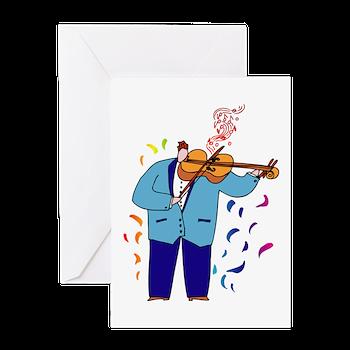 Funny Violin Player Birthday Card