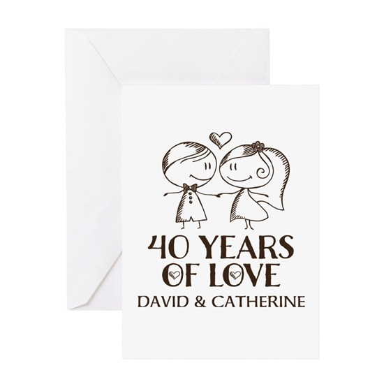 40th Wedding Anniversary Personalized