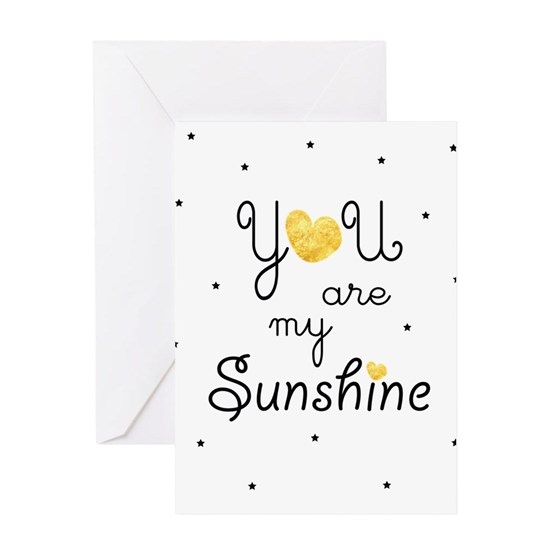 You are my sunshine - gold