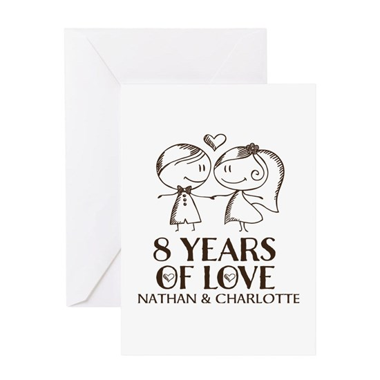 8th Wedding Anniversary.8th Wedding Anniversary Personalized Greeting Card