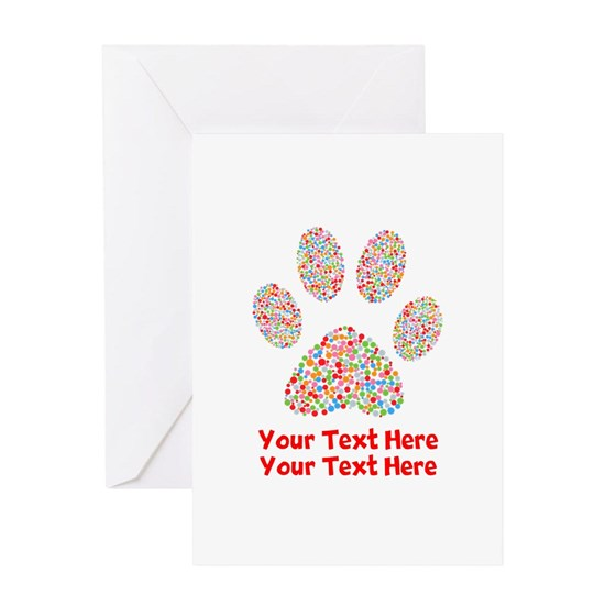 Dog Paws Print Colorful