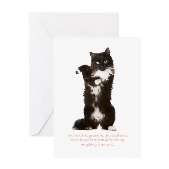 Stretch Birthday Greeting Card Funny Cat Birthday Card By