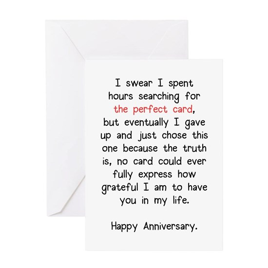 The Perfect Anniversary Card Greeting Card The Perfect