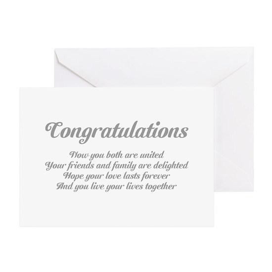 Wedding Congratulations Poem. Greeting Card by Metarla
