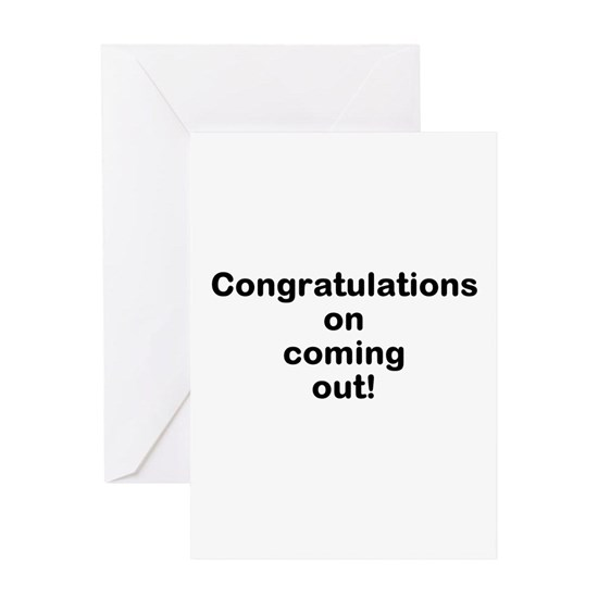 Congratulations on coming out (plain) Greeting Card Card