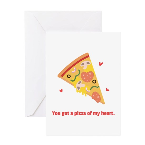 Yummy Pizza Heart Pun Humor