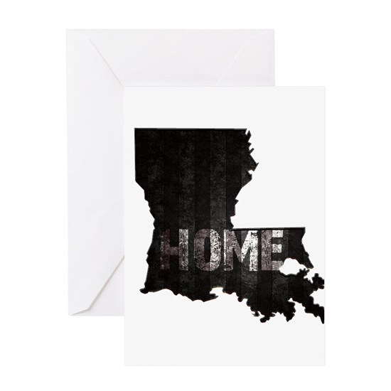 Louisiana Home Black and White