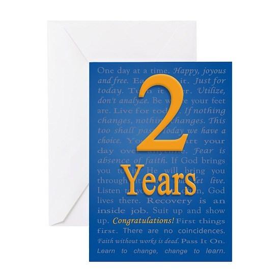 2 Years Recovery Slogan Birthday Card