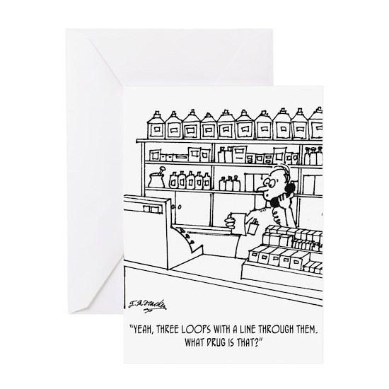 Pharmacist Cartoon 3109 Greeting Card by McHumor Medical