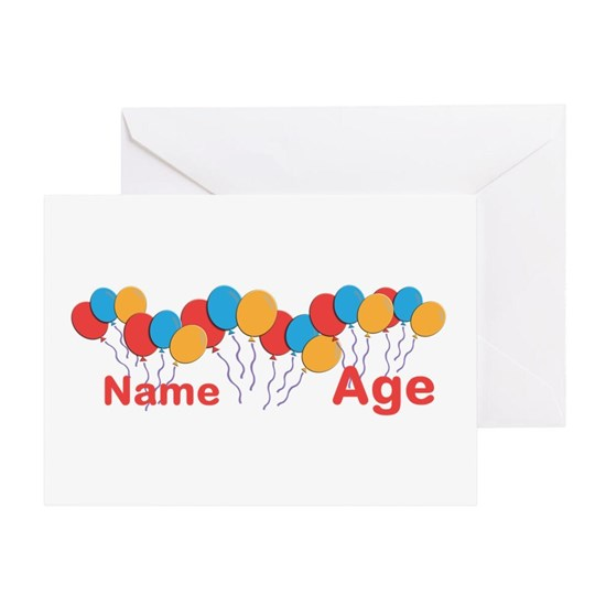 CUSTOMIZE NAME and AGE Birthday