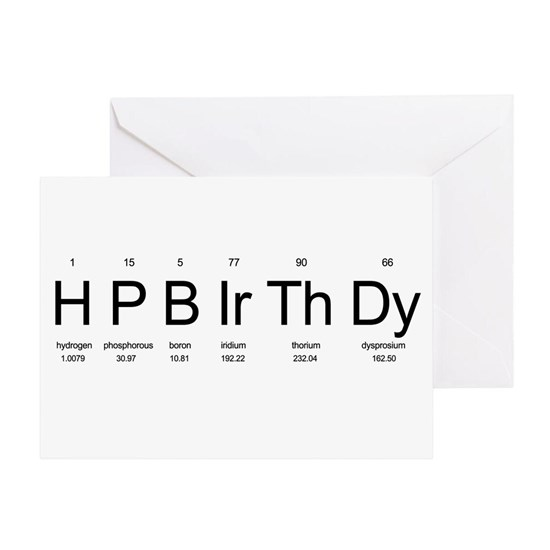 Happybirthday Greeting Card Periodic Table Birthday By