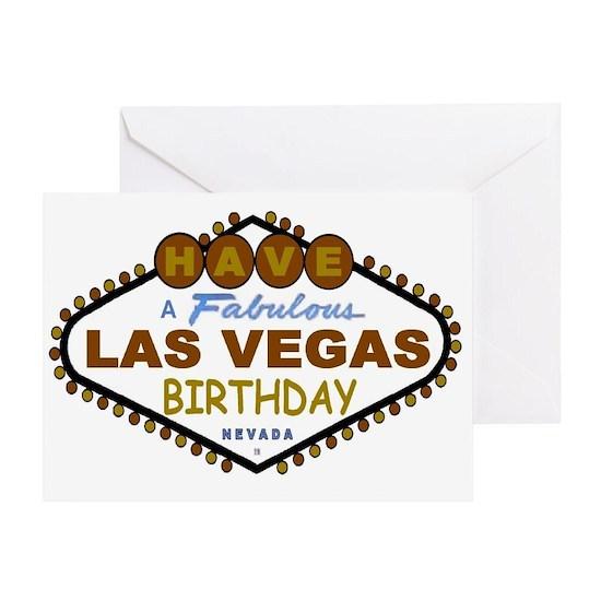 Las Vegas Birthday Card Greeting Brownbday1