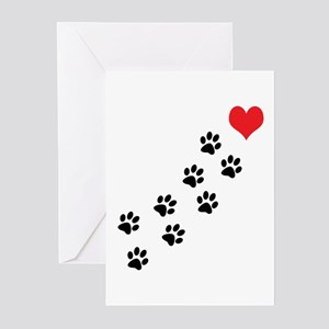 Paw Prints To My Heart Greeting Cards (Pk of 20)