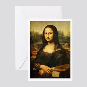 Mona Lisa Smile - Tennis Greeting Cards (Pk of 20)