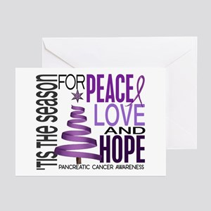 Christmas 1 Pancreatic Cancer Greeting Cards (Pk o