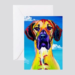 Great Dane #1 Greeting Cards