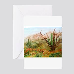 Desert, southwest art Greeting Cards