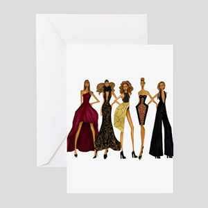 Group Divas Greeting Cards