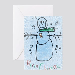 autism snowman Greeting Cards