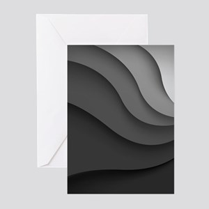 Black Abstract Greeting Cards (Pk of 20)