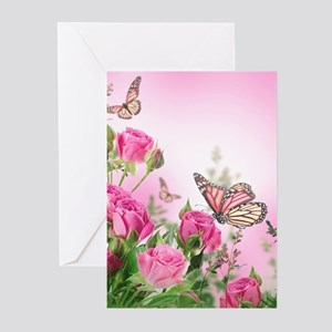 Butterfly Flowers Greeting Cards (Pk of 20)
