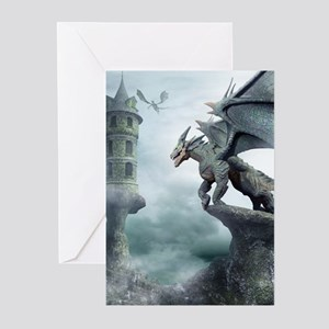 Tower Dragons Greeting Cards (Pk of 20)