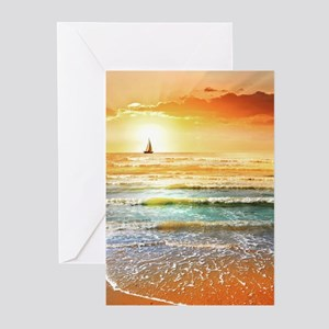Tropical Beach Greeting Cards (Pk of 20)
