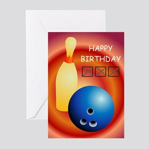bowling-ball-pin_F Greeting Cards