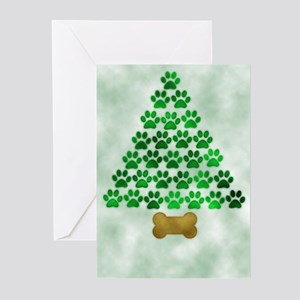 Dog's Christmas Tree Greeting Cards (Pk of 20)