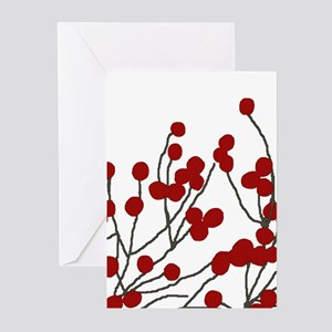 winterberries Season's Greetings Greeting Cards (P