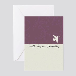 Blank Sympathy card with dove, deepest (Pk of 20)