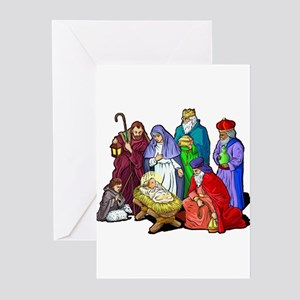 Christmas Nativity Scene Greeting Cards