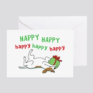 Happy Holiday Jack Russell Greeting Cards (Pk of 2