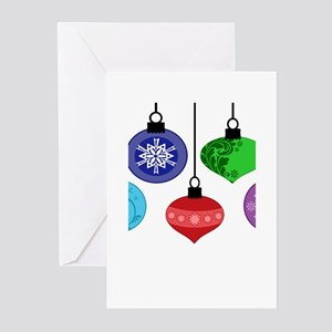 Christmas Ornaments Greeting Cards (Pk of 20)
