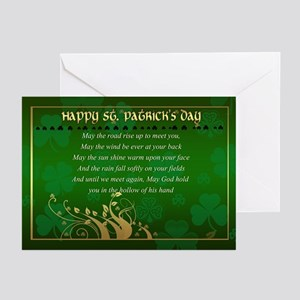 St. Patrick's Day Card With Irish Bless (Pk of 20)