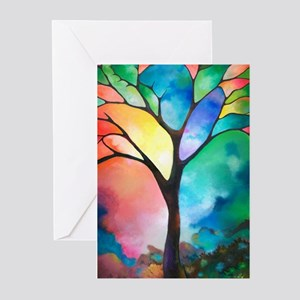 Tree of Light by Sally Trace Greeting Cards (Pk of
