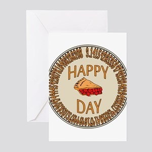 Happy PI Day Cherry Pie Greeting Cards