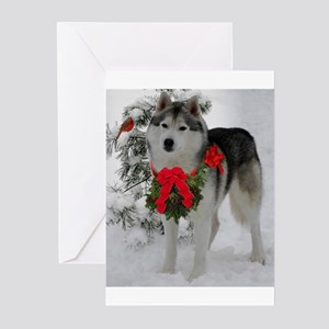 Husky Christmas Cards.Siberian Husky Christmas Stationery Cafepress