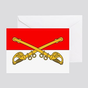 Cavalry Branch Insignia Greeting Cards