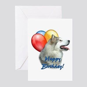 Malamute Balloon Greeting Cards (Pk of 20)