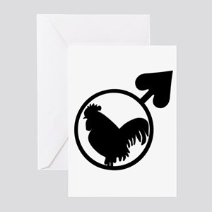 Black Cock Greeting Cards (Pk of 20)
