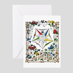 Vintage Eastern Star Signet Greeting Cards (Pk of