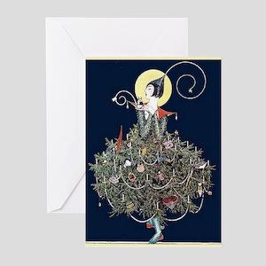 Deco Christmas Tree Greeting Cards (pk Of 20)