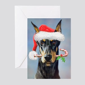 Doberman Christmas Greeting Cards