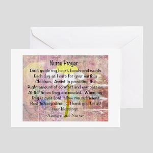 Nurse prayer blanket PINK Greeting Cards
