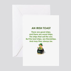 AN IRISH TOAST Greeting Cards (Pk of 20)