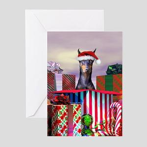 Doberman Christmas Greeting Cards (Pk of 20)