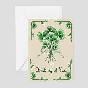 Shamrock Bouquet Greeting Cards (Pk of 20)