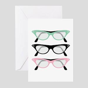 Retro Glasses Greeting Cards